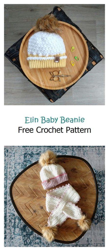 Elin Baby Beanie Free Crochet Pattern