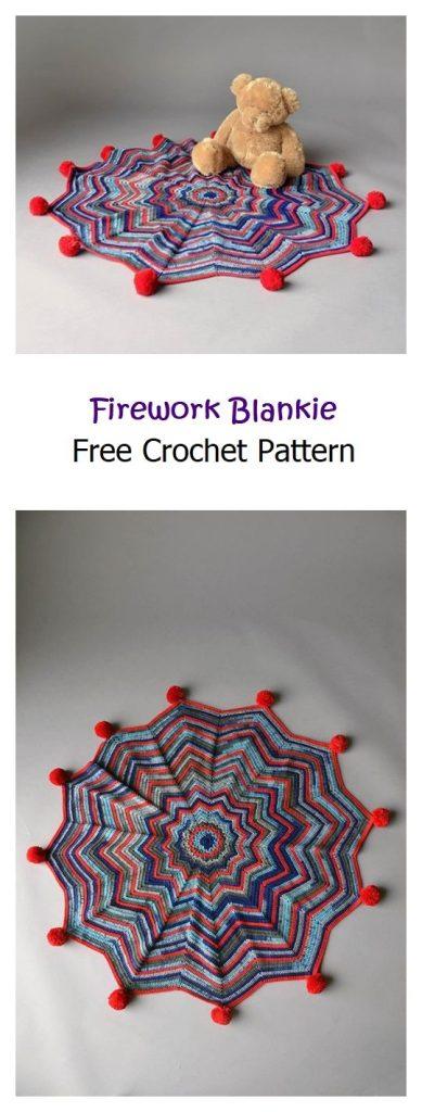 Firework Blankie Free Crochet Pattern