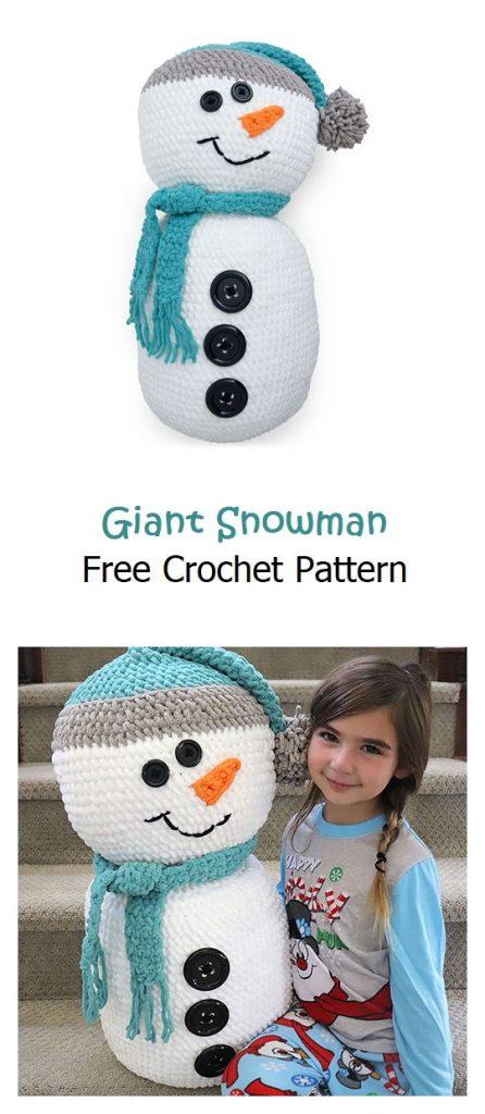 Giant Snowman Free Crochet Pattern