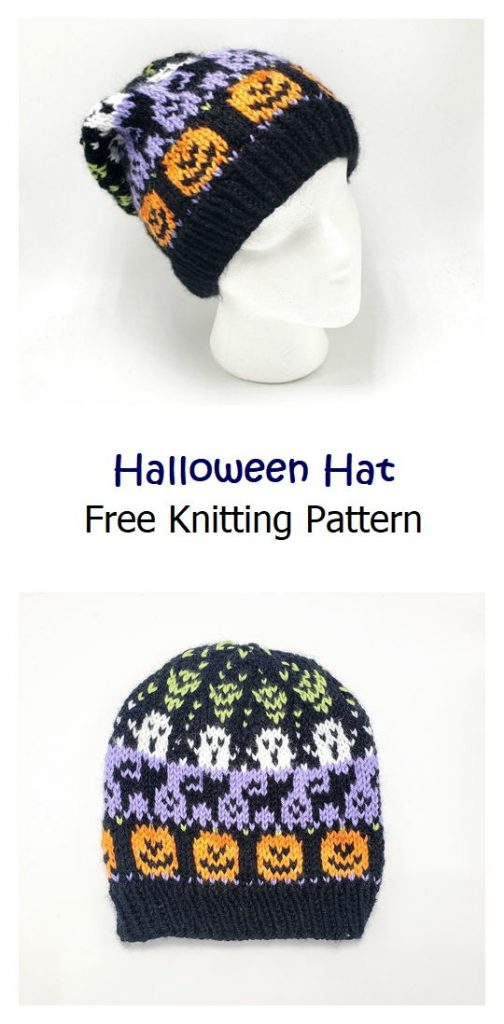 Halloween Hat Free Knitting Pattern