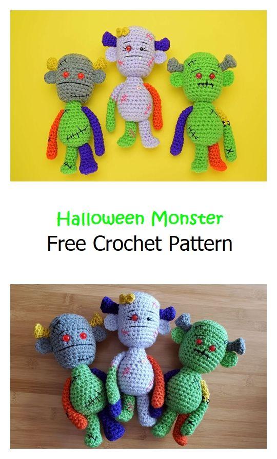 Halloween Monster Free Crochet Pattern