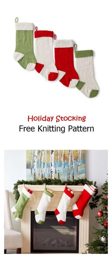 Holiday Stocking Free Knitting Pattern