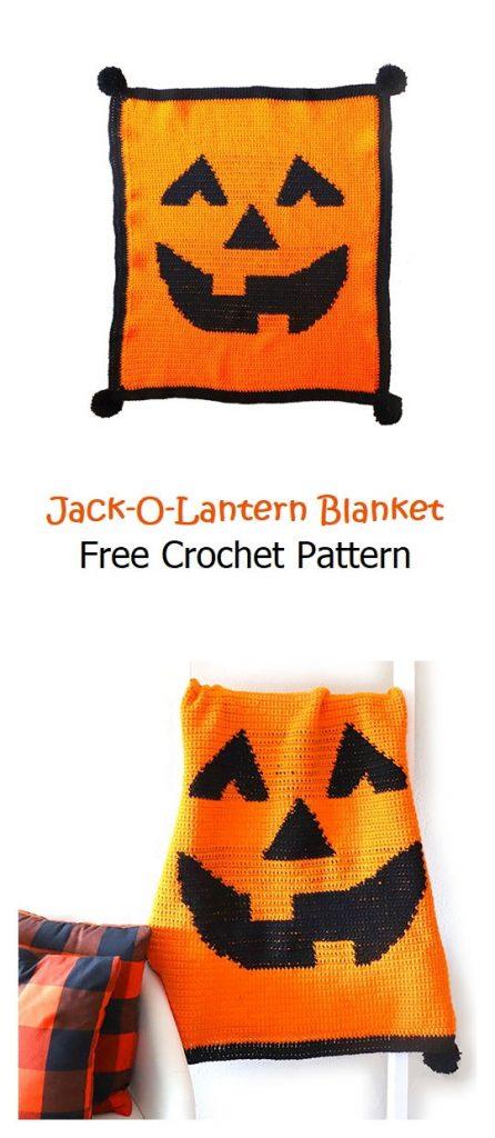 Jack-O-Lantern Blanket Free Crochet Pattern