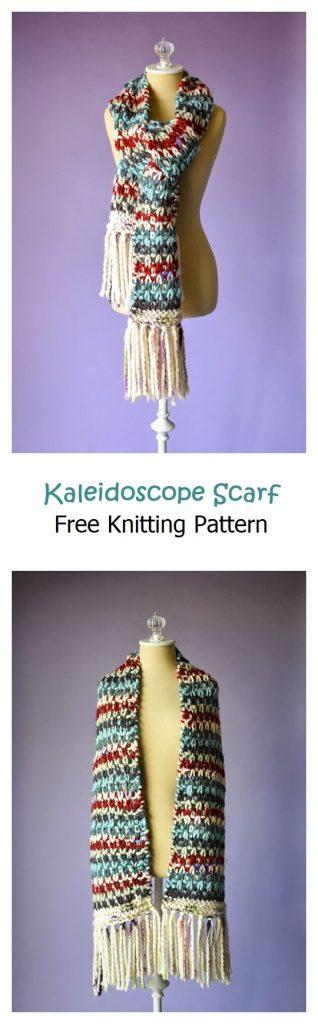 Kaleidoscope Scarf Free Knitting Pattern