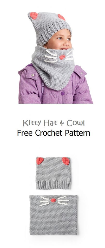 Kitty Hat & Cowl Free Crochet Pattern