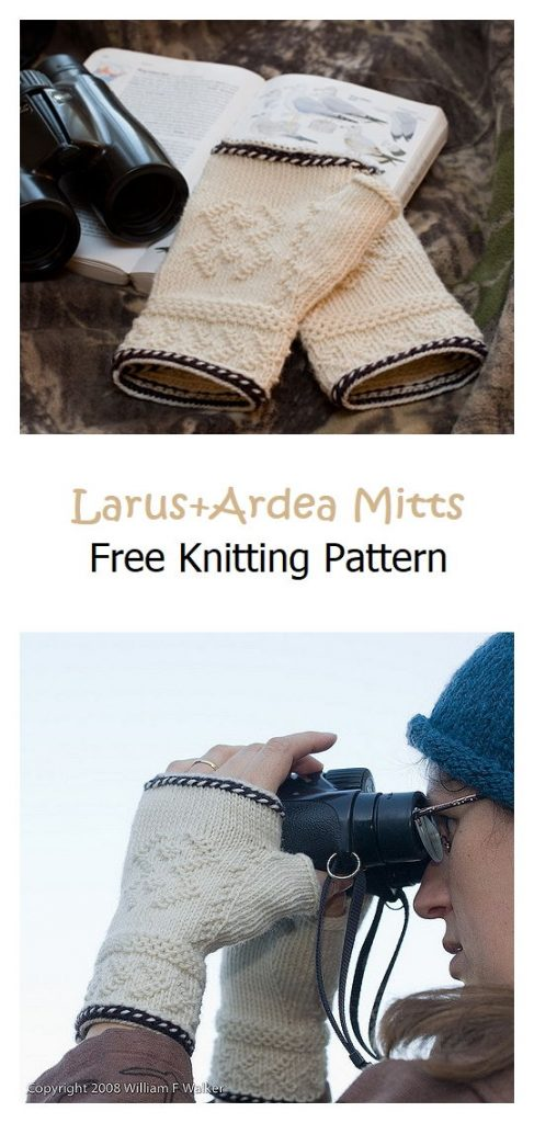 Larus+Ardea Mitts Free Knitting Pattern