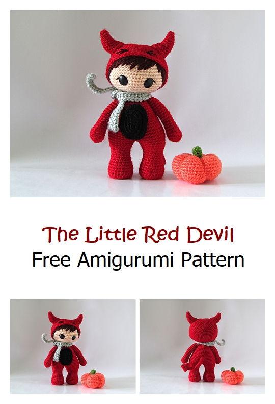 The Little Red Devil Free Amigurumi Pattern