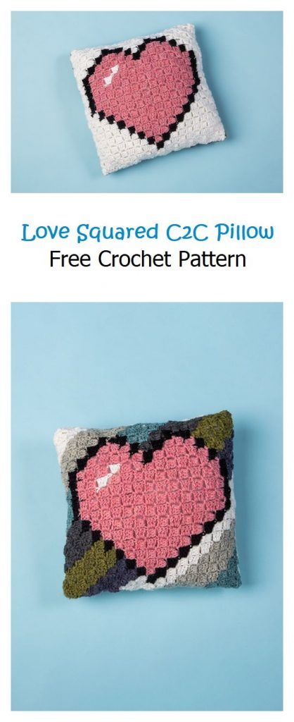 Love Squared C2C Pillow Free Crochet Pattern