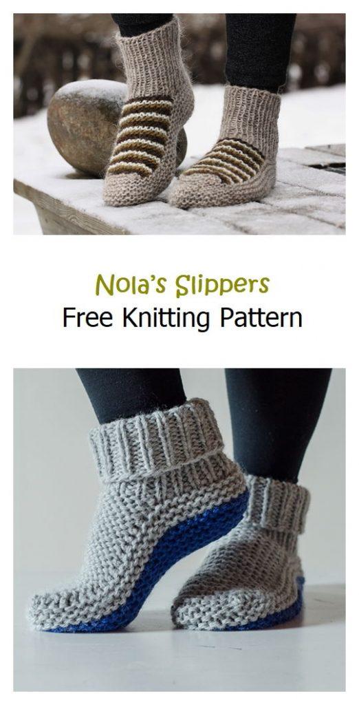 Nola's Slippers Free Knitting Pattern