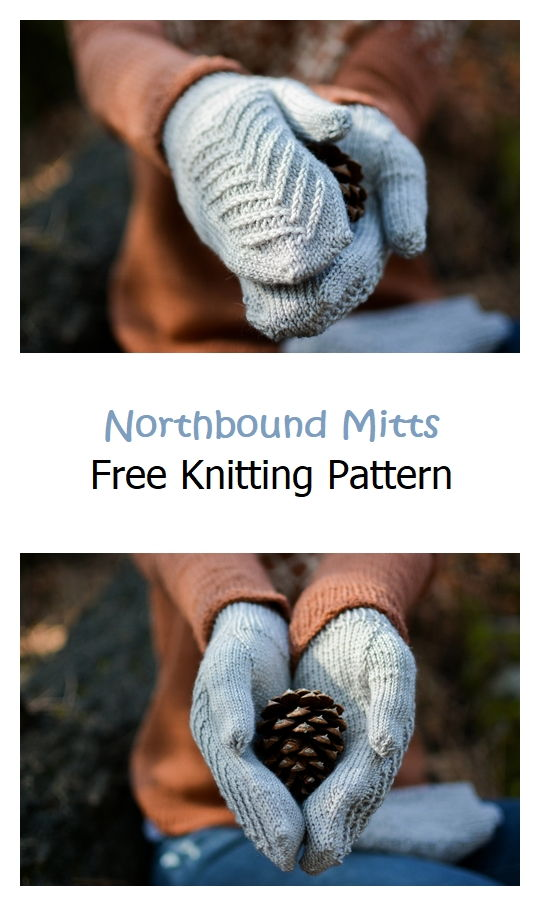 Northbound Mitts Free Knitting Pattern