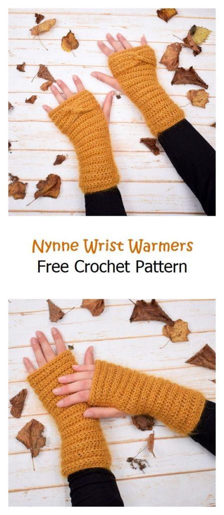 Nynne Wrist Warmers Free Crochet Pattern