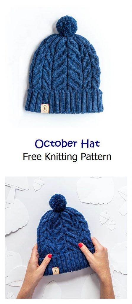 October Hat Free Knitting Pattern