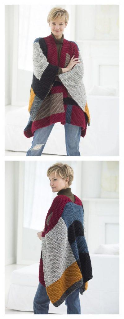 Palermo Poncho Free Knitting Pattern
