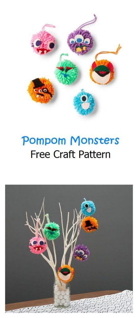 Pompom Monsters Free Craft Patterns