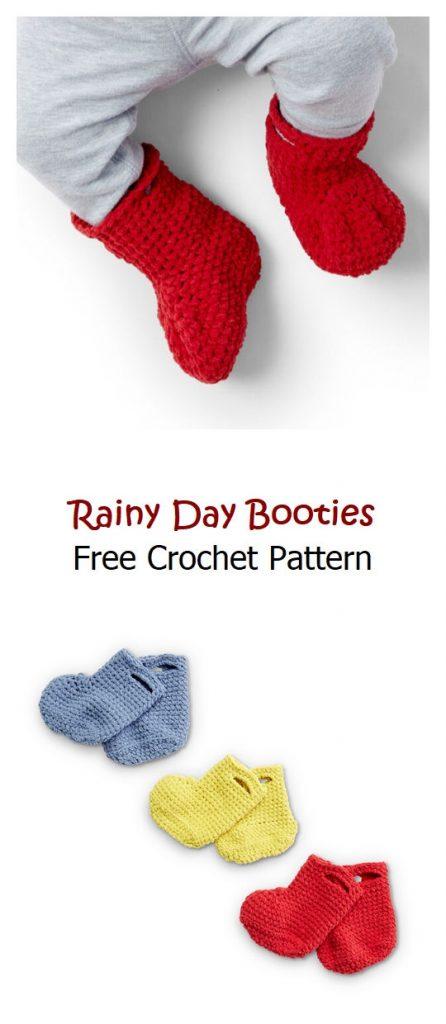Rainy Day Booties Free Crochet Pattern