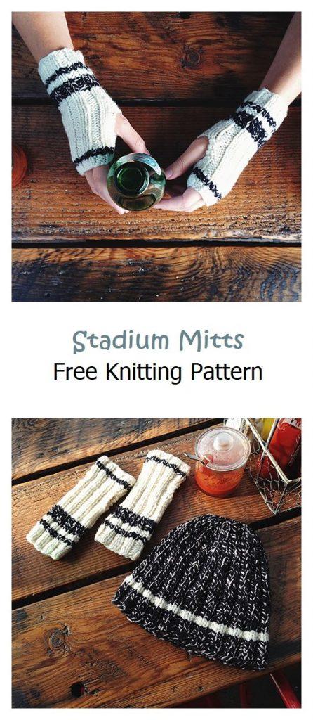 Stadium Mitts Free Knitting Pattern