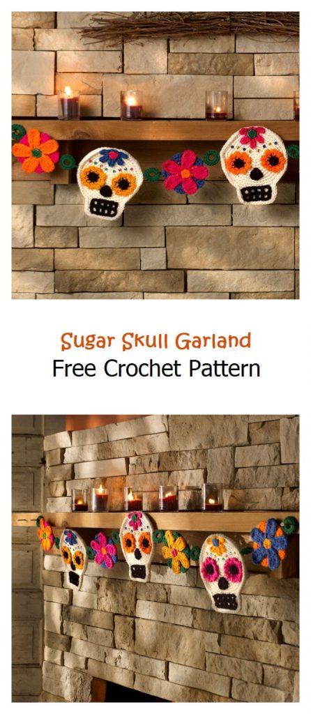 Sugar Skull Garland Free Crochet Pattern