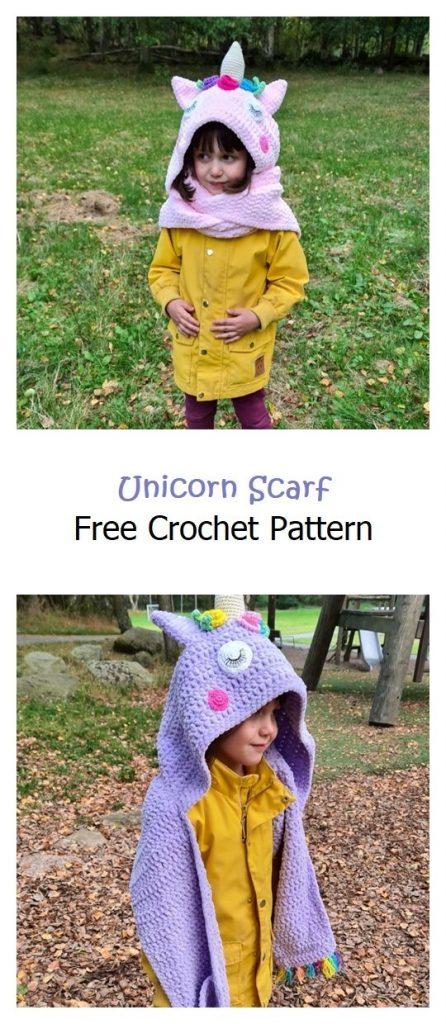 Unicorn Scarf Free Crochet Pattern