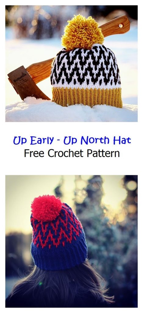 Up Early – Up North Hat Free Crochet Pattern