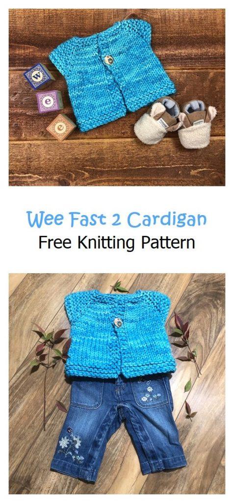 Wee Fast 2 Cardigan Free Knitting Pattern