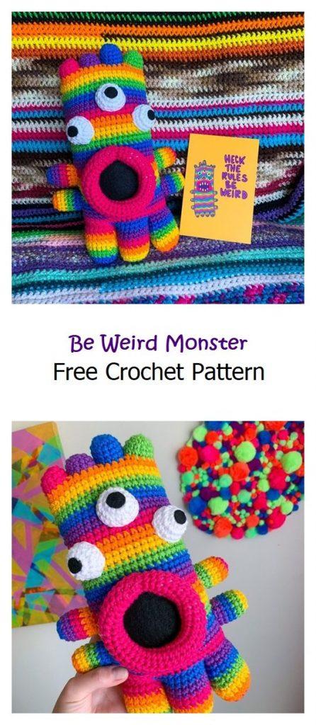 Be Weird Monster Free Amigurumi Pattern