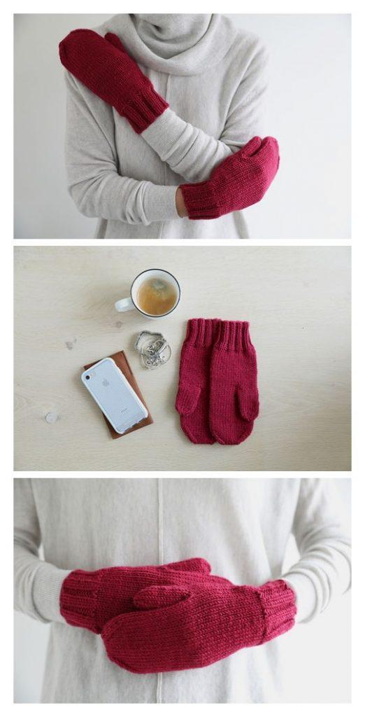 Big Merino Mitts Free Knitting Pattern