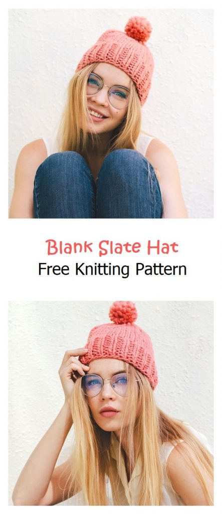Blank Slate Hat Free Knitting Pattern