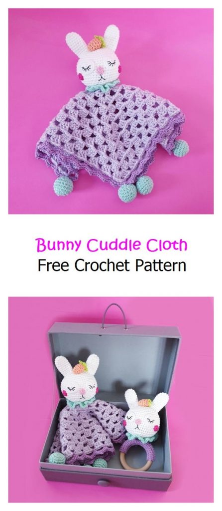 Bunny Cuddle Cloth Free Crochet Pattern