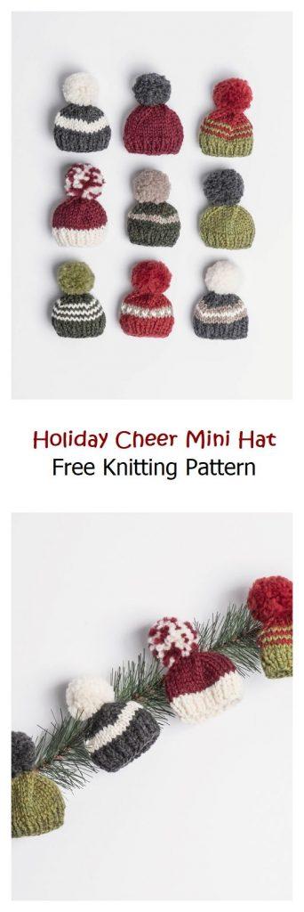 Holiday Cheer Mini Hat Free Knitting Pattern