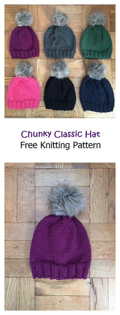 Chunky Classic Hat Free Knitting Pattern