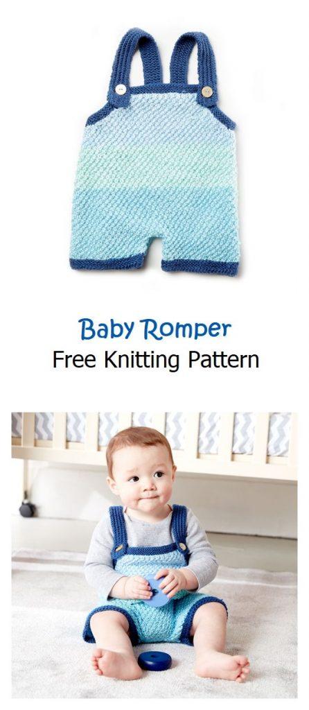 Knit Baby Romper Free Pattern