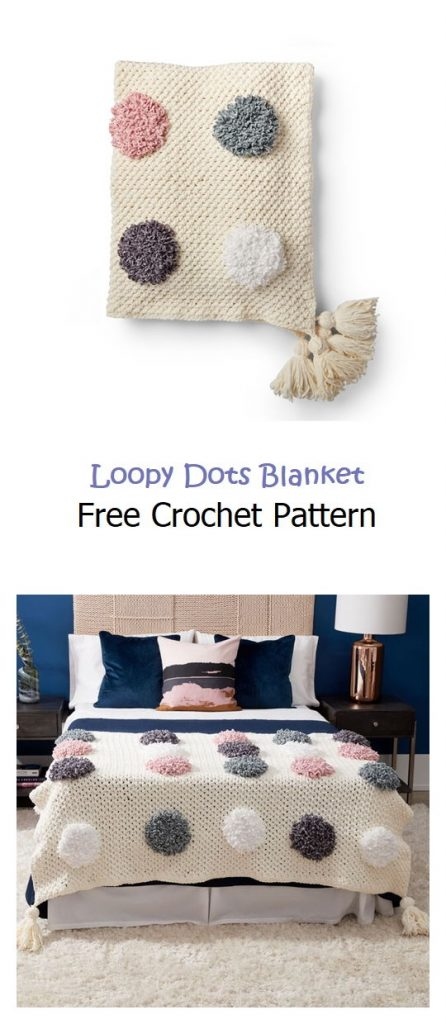 Loopy Dots Blanket Free Crochet Pattern