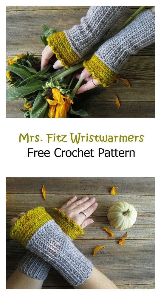 Mrs. Fitz Wristwarmers Free Crochet Pattern