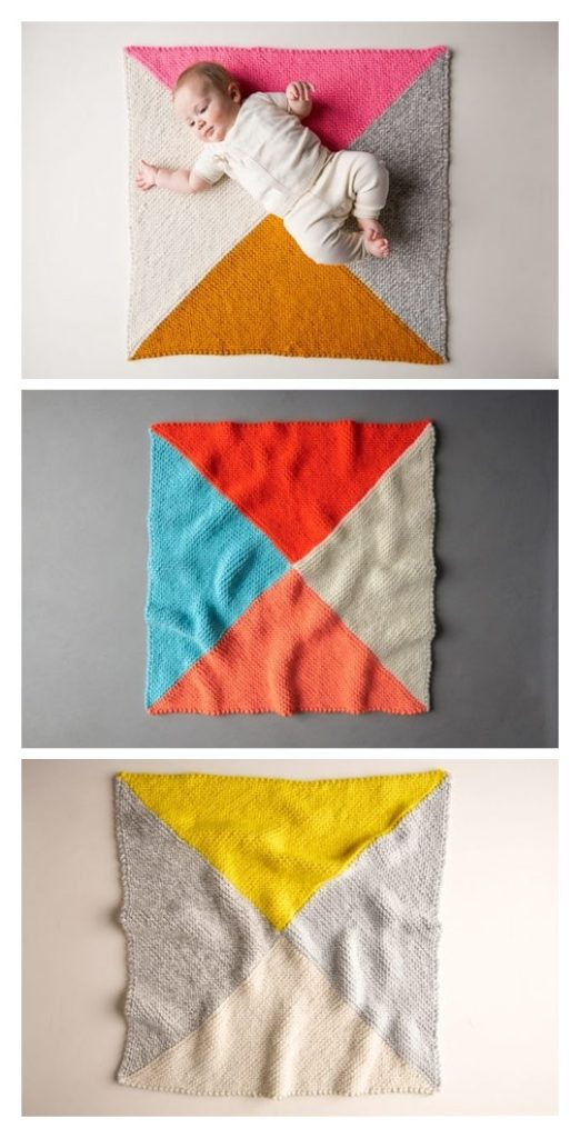 Four Points Baby Blanket Free Pattern