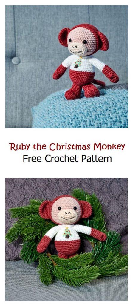 Ruby the Christmas Monkey Free Pattern