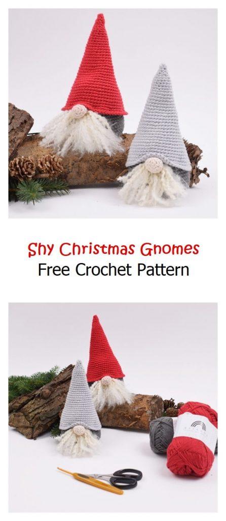 Shy Christmas Gnomes Free Crochet Pattern