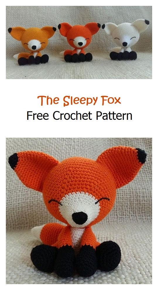 The Sleepy Fox Free Crochet Pattern