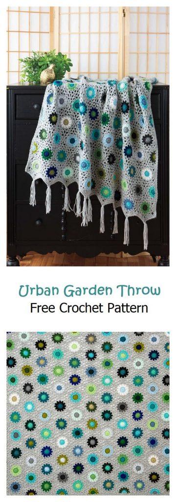 Urban Garden Throw Free Crochet Pattern