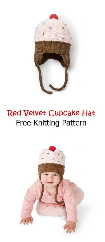 Red Velvet Cupcake Hat Free Knitting Pattern