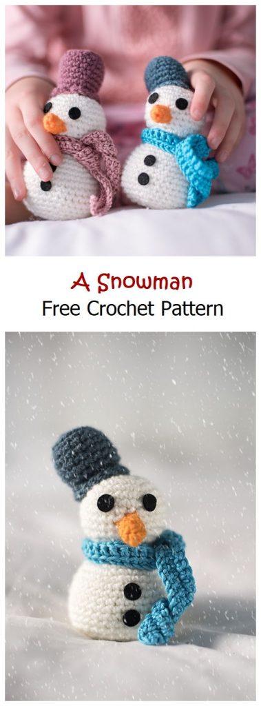 A Snowman Free Amigurumi Pattern