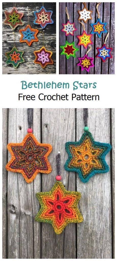 Bethlehem Stars Free Crochet Pattern