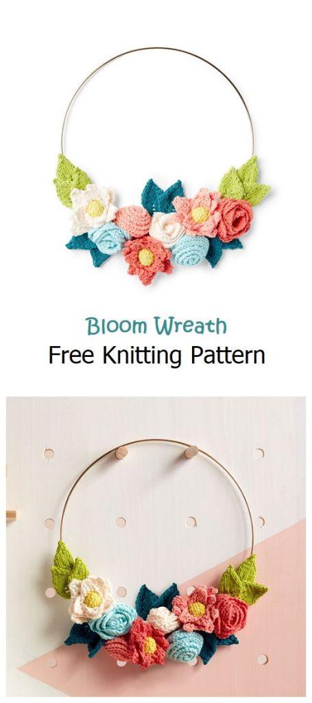 Bloom Wreath Free Knitting Pattern