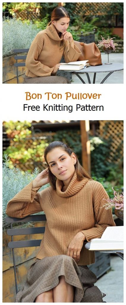 Bon Ton Pullover Free Knitting Pattern