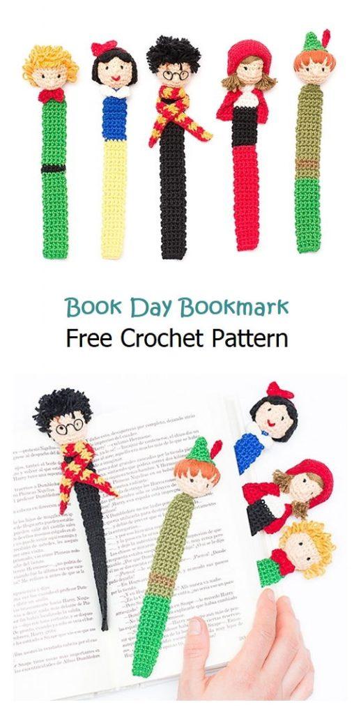 Book Day Bookmark Free Crochet Pattern