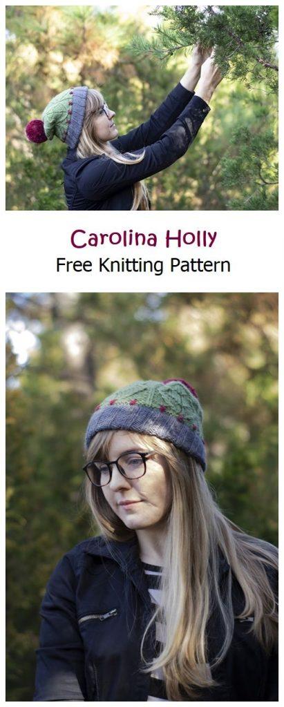 Carolina Holly Free Knitting Pattern