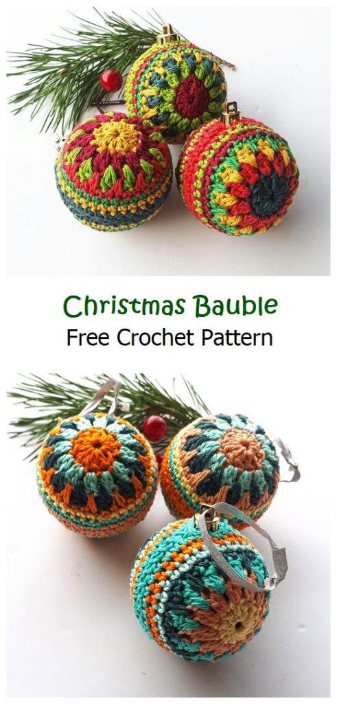 Christmas Bauble Free Crochet Pattern
