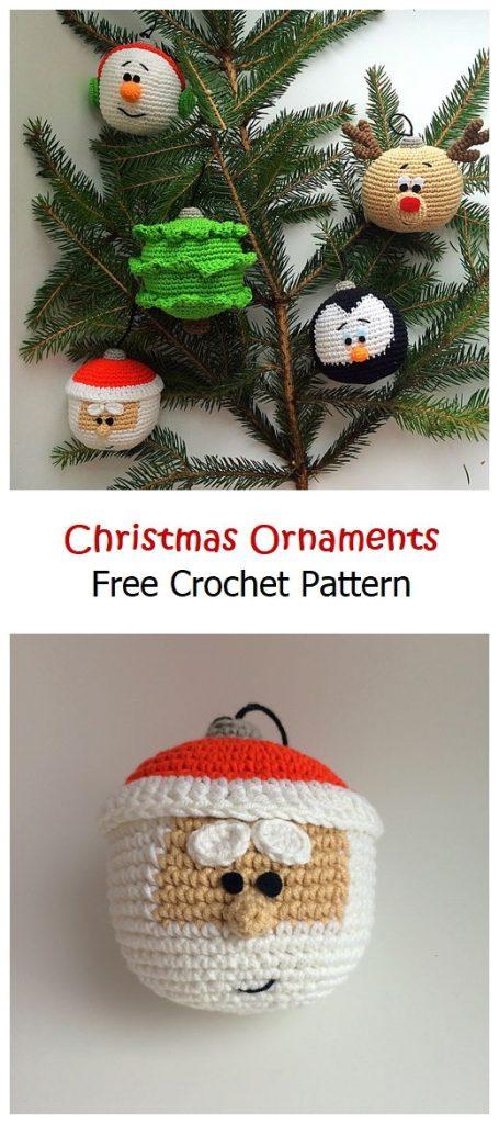 Christmas Ornaments Free Crochet Pattern