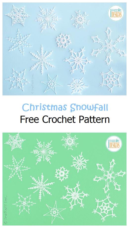 Christmas Snowfall Free Crochet Pattern