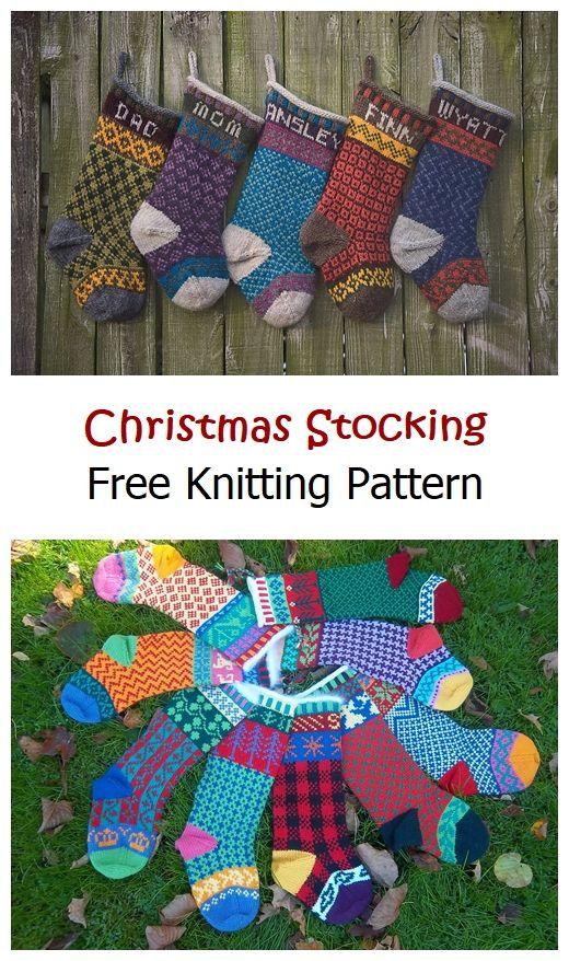 Christmas Stocking Free Knitting Pattern
