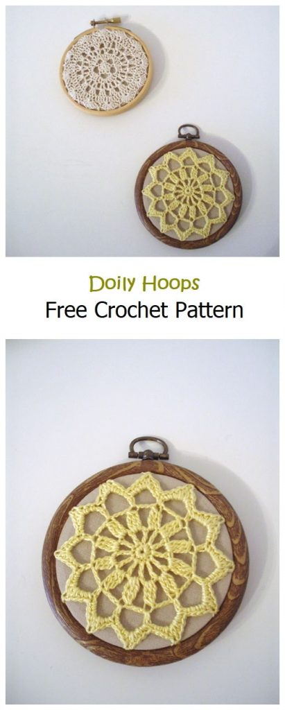 Doily Hoops Free Crochet Pattern
